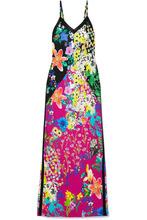 Etro | Etro - Floral-print Crepe De Chine Maxi Dress - Black | Clouty