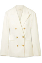 The Row | The Row - Rupsen Double-breasted Cotton-twill Blazer - Ivory | Clouty