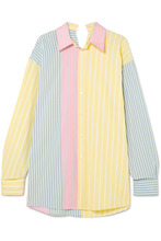 Marni | Marni - Oversized Striped Cotton Shirt - Yellow | Clouty