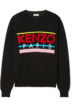 KENZO | KENZO - Embroidered Cotton Sweater - Black | Clouty