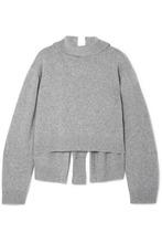 Rejina Pyo | REJINA PYO - Amanda Tie-back Wool-blend Turtleneck Sweater - Gray | Clouty