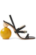 Jacquemus | Jacquemus - Bahia Leather Sandals - Black | Clouty