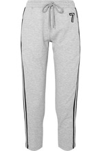 Markus Lupfer   Markus Lupfer - Daria Striped Embellished Jersey Track Pants - Gray   Clouty