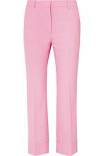 Paul & Joe   Paul & Joe - Cropped Twill Flared Pants - Pink   Clouty