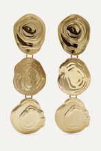 Leigh Miller | Leigh Miller - On The Halfshell Gold-tone Earrings - One size | Clouty