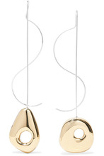 Leigh Miller | Leigh Miller - Hepworth Drop White Bronze, Gold-tone And Silver Earrings - One size | Clouty