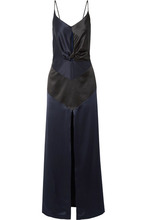 Michael Lo Sordo | Michael Lo Sordo - Cutout Silk-satin Midi Dress - Midnight blue | Clouty