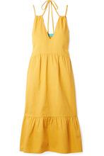 M.I.H Jeans | M.i.h Jeans - Lita Cotton-voile Midi Dress - Saffron | Clouty