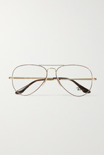 Ray Ban | Ray-Ban - Aviator Gold-tone And Tortoiseshell Acetate Optical Glasses - one size | Clouty