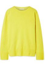 The Row | The Row - Sibel Oversized Wool And Cashmere-blend Sweater - Bright yellow | Clouty