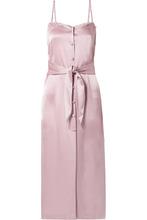 Nanushka | Nanushka - Soraya Satin Midi Dress - Lilac | Clouty