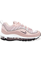 NIKE | Nike - Air Max 98 Leather, Suede And Mesh Sneakers - Pastel pink | Clouty