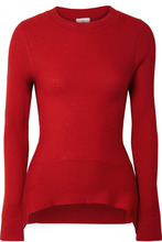 Tome | TOME - Ribbed Merino Wool, Silk And Cashmere-blend Sweater - Red | Clouty