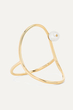 Anissa Kermiche | Anissa Kermiche - Oval 14-karat Gold Pearl Ring - 7 | Clouty
