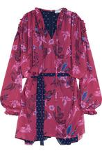 Balenciaga | Balenciaga - Flou Ruffled Printed Georgette Dress - Pink | Clouty