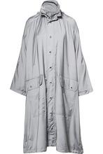 Balenciaga | Balenciaga - Opera Oversized Printed Reflective Shell Raincoat - Gray | Clouty