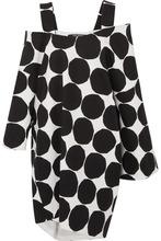 Junya Watanabe | Junya Watanabe - + Marimekko Oversized Cold-shoulder Polka-dot Cotton-canvas Midi Dress - Black | Clouty