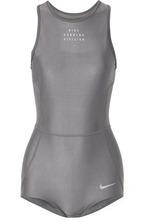 NIKE | Nike - Run Division Cutout Dri-fit Stretch Bodysuit - Gray | Clouty