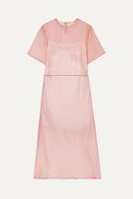 Mansur Gavriel - Silk-tulle Midi Dress - Blush