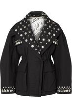 Isabel Marant | Isabel Marant - Emmetis Reversible Embellished Cotton-canvas Jacket - Black | Clouty