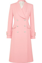 Alessandra Rich | Alessandra Rich - Crystal-embellished Wool-cady Coat - Pink | Clouty