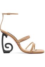 Jacquemus   Jacquemus - Espiral Leather Sandals - Beige   Clouty