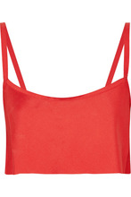 Ann Demeulemeester | Ann Demeulemeester - Cropped Crepe Top - Red | Clouty