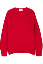 Allude | Allude - Oversized Cashmere Sweater - Red | Clouty