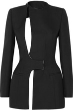 Haider Ackermann | Haider Ackermann - Cutout Cotton-blend Crepe Blazer - Black | Clouty