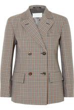 Maison Margiela | Maison Margiela - Checked Wool, Mohair And Silk-blend Blazer - Brown | Clouty