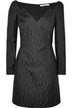 GIVENCHY | Givenchy - Moire-jacquard Mini Dress - Black | Clouty