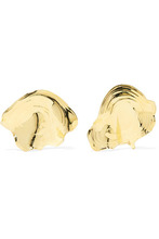 Leigh Miller | Leigh Miller - Padina Gold-tone Earrings - one size | Clouty