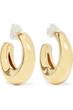 Leigh Miller | Leigh Miller - Bubble Gold-tone Hoop Earrings - one size | Clouty