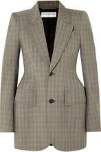 Balenciaga | Balenciaga - Checked Wool And Mohair-blend Blazer - Beige | Clouty