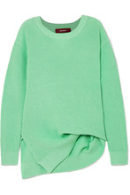 Sies Marjan | Sies Marjan - Fern Pickup Asymmetric Cotton Sweater - Light green | Clouty