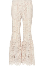 Anna Sui | Anna Sui - Guipure Lace Flared Pants - Cream | Clouty