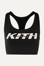Kith | Kith - Brie Printed Stretch-jersey Sports Bra - Black | Clouty