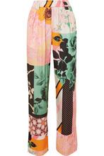 Stine Goya | Stine Goya - Vinnie Printed Charmeuse Straight-leg Pants - Pink | Clouty