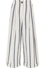 Rejina Pyo | REJINA PYO - Dylan Cropped Striped Wide-leg Cotton-chambray Pants - Blue | Clouty