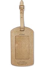 Smythson | Smythson - Panama Metallic Textured-leather Luggage Tag - Gold | Clouty