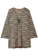 Missoni | Missoni - Mare Lace-up Crochet-knit Kaftan - Yellow | Clouty