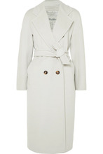 MAX MARA | Max Mara - Belted Wool And Cashmere-blend Coat - Cream | Clouty