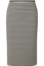 MAX MARA | Max Mara - Striped Stretch-knit Pencil Skirt - Black | Clouty