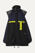 Balenciaga | Balenciaga - Oversized Layered Shell And Denim Jacket - Black | Clouty