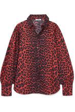 Ganni | GANNI - Bijou Leopard-print Cotton-poplin Shirt - Leopard print | Clouty