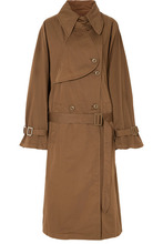 MM6 Maison Margiela | MM6 Maison Margiela - Oversized Cotton-gabardine Trench Coat - Brown | Clouty
