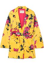 Etro | Etro - Floral-print Crepe Blazer - Yellow | Clouty