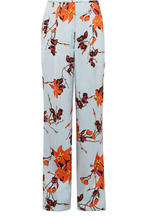 Etro | Etro - Floral-print Satin Wide-leg Pants - Orange | Clouty