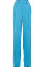 Etro | Etro - Satin-crepe Wide-leg Pants - Blue | Clouty