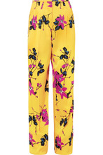 Etro | Etro - Floral-print Crepe Wide-leg Pants - Yellow | Clouty